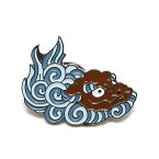 UBIQ IREZUMI PINS THREE TIDES TATTOO(SHISHI (BROWN) Designed by NAMI)(ユービック ピンズ スリータイズタトゥー)【ピンバッチ】【17FW-I】