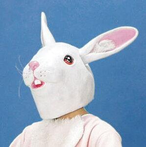 在庫あり!!【送料490円】アニマルマスク うさぎ ラバーマスク 被り物 マスク コスプレ