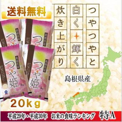 島根県産白米 つや姫 5kg/4袋セット(20kg) 【令和2年新米】/特A 食味ラ...