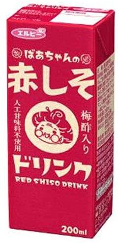 エルビーばあちゃんの赤しそドリンク200mlx24本