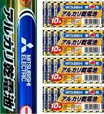 三菱電機 三菱アルカリ乾電池 単4型/4個セット(40本入り)【メール便】