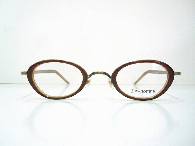 Zip+homme(ジップオム)Z-0078 3メガネフレーム新品彫刻クラシックめがね鯖江眼鏡ヴィンテージサングラス内巻き