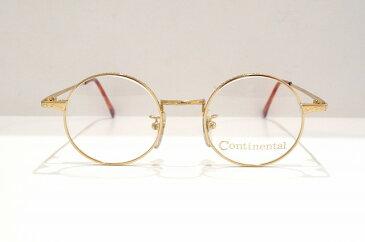 Continental(コンチネンタル)7007 GPヴィンテージメガネフレーム新品めがね眼鏡サングラスラウンド彫金丸型クラシック