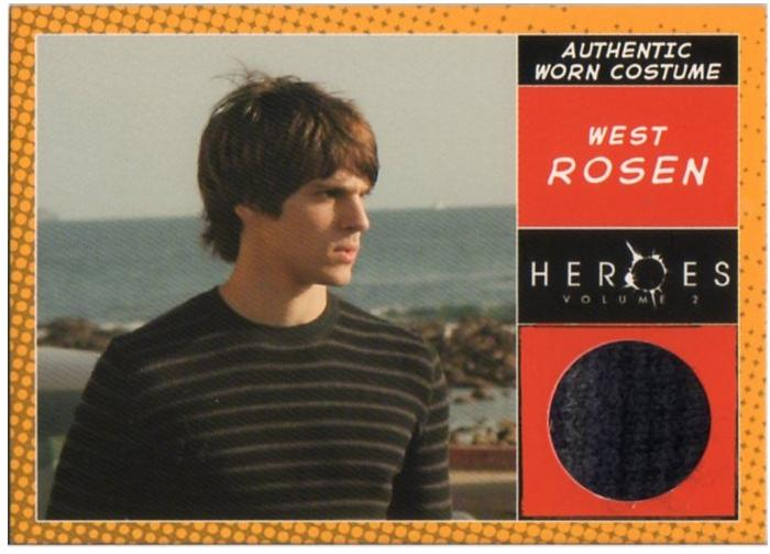 TOPPS HEROES VOLUME2/ヒーローズ WEST ROSEN コスチュームカード シングルカード【中古】画像