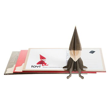【ポイント5倍】 Lovi ロヴィ グリーティングカード エルフ 8cm グレイ 【正規品】