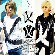 ○KMK[Craftsman]ペンキクロスTシャツ