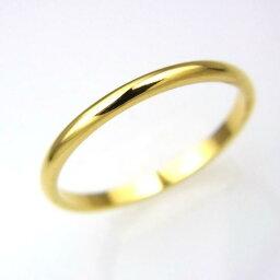 ステンレス 甲丸リング2mm【PVD K18】サイズ1〜13号 文字入れ刻印可能♪/ペアセットリング/結婚指輪/マリッジリング