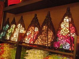 【アジアン】【ランプ】【照明】【かわいい】どこよりも安いコットンボールランプ【全12色】ピンク/サーモンピンク