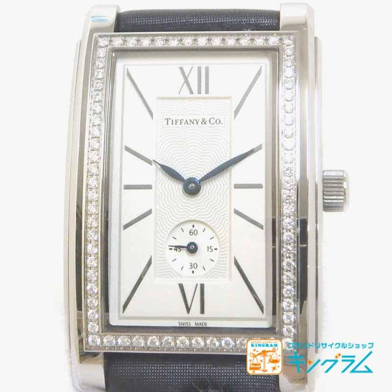 【セール】【10%OFF】ティファニー Tiffany グランド Z0030.13.10B21A40A アウトレット ダイヤベゼル スモールセコンド クオーツ メンズ腕時計 ec【中古】:キングラム