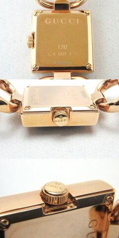 【1金】グッチGUCCIトルナヴォーニYA120521ローズゴールドカラーブラック文字盤hi【】
