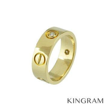 カルティエ Cartier ラブリング ハーフダイヤ リング K18YG 750 ダイヤモンド ♯47 7号 クリーニング済 ec 【中古】