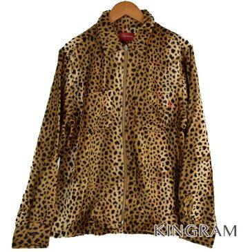 シュプリーム Supreme 17AW Cheetah Pile Zip Up Shirt レオパード柄ジップ レオパード 綿50% レーヨン50% メンズトップス rtk 【中古】