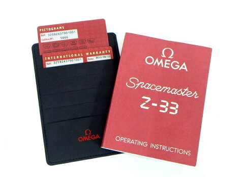 オメガスペースマスターZ-33ウォッチチタンケース素材ブラック文字盤te