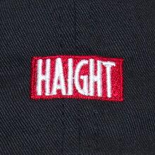HAIGHTのボックスロゴを刺繍で落とし込んだボールキャップ