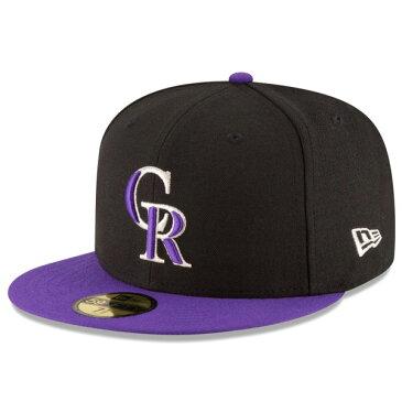 【即日発送】ニューエラ キャップ メンズ レディース NEW ERA 59FIFTY MLB On-Field コロラド・ロッキーズ オルタネイト1 帽子 CAP new era メンズキャップ ロゴ 刺繍 newera ぼうし メンズ帽子 メジャーリーグ MLB 吸 プレゼント ブラック/パープルバイザー 11449377