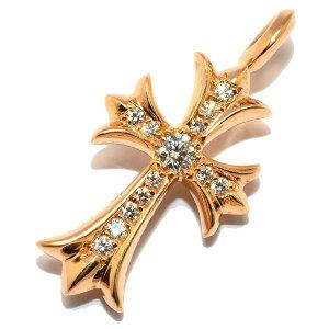 送料無料!CHROME HEARTS(クロムハーツ)Tiny CH Cross Charm 22K w/PAVE Diamonds クロスチャー...