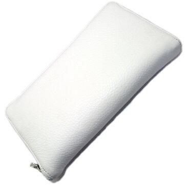 CHROME HEARTS(クロムハーツ)REC F #2/White Plain Leather ホワイトプレーンレザーウォレット ラウンドジップ