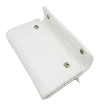 CHROME HEARTS(クロムハーツ)ウェーブ・クロスボタン・ホワイトウォレット Wave Wallet White Leather w/Cross Buttons