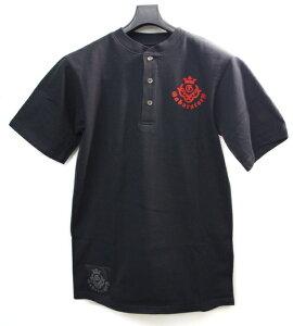 送料無料!!【円高還元】Gaboratory(ガボラトリー) ヘンリーネックTシャツ ブラック×レッ...