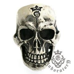 送料無料!!【円高還元】Gaboratory(ガボラトリー) Large Skull Ring with Jaw ラージスカ...