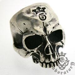 送料無料!!【円高還元】Gaboratory(ガボラトリー) Large Skull Ring without Jaw ラージ...