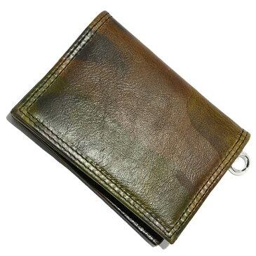 LONE ONES(ロンワンズ) MFW-0002 CAMO Leather CardCase カモフラージュレザーカードケース