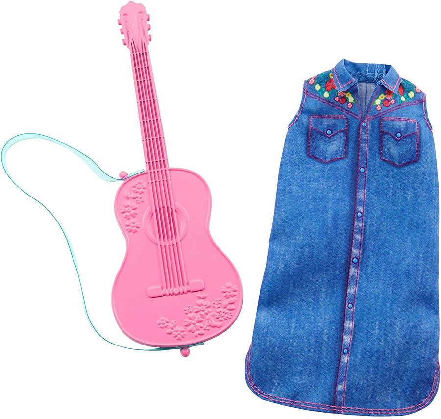 ぬいぐるみ・人形, 着せ替え人形  (Barbie Clothes -- Career Outfit Doll, Musician Look with Guitar, Multicolor MATTELFKT15 )