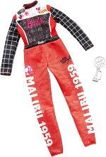 バービーファッションパックカーレーサー(BarbieClothes--CareerOutfitDoll,RacecarDriverJumpsuitwithTrophy,Multi/MATTEL/GHX38/ドライバースーツ、カーレーストロフィー)