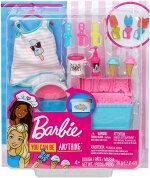 バービーアイスクリーム作りプレイセットドール用タンクトップ、ねんど付き(BarbieCookingAccessoryPackwithIceCream-ThemedPieces/GHK40/MATTEL社/アイスキャンディー/ドール付属せず)