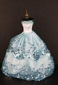 バービー 着せ替え用ドレス/服 W2 (Blue Ball Gown with Light Blue Sequined Lace Details Made to Fit the Barbie Doll)