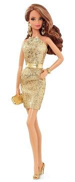 バービーコレクターバービールックゴールドドレス