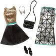 バービー ファッションパック 2着セット (シルバーワンピース)/洋服 靴 かばん (Barbie Fashion Complete Look, 2 Pack/ MATTEL/DMF54)
