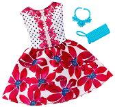 バービー ファッションパック レッドフローラルドレス/服 靴 かばん (Barbie Fashions Complete Look - Floral Red Dress/ MATTEL/FCT35)