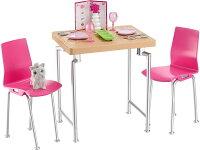 バービーダイニングテーブルセット(BarbieDateNight&AccessoriesPlayset/DVX45/MATTEL社)