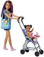 バービー「スキッパーのベビーシッター」ドール(2体)&ベビーカーセット(BarbieSkipperBabysittersInc.DollandStrollerPlayset/FJB00/MATTEL社/バービー人形,ハウス)
