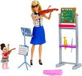 バービー音楽の先生ドール&プレイセット(BarbieMusicTeacherDoll&Playset/FXP18/MATTEL社/人形,ハウス)