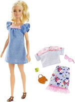 バービーファッショニスタスイートブルームドールセット[BarbieFashionistaSweetBloomDoll/Mattel/FRY79/人形靴かばんアクセサリー]
