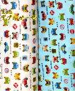 生地 ダブルガーゼ《車と交通標識》【50cm単位販売】 【メール便2mまで可】【コットン/ガーゼ/布/布地/乗物柄/標識】(CO23)