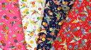 生地 綿シーチング 和柄《鶴/折り紙/折り鶴》【30cmから販売】【メ...
