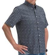 メンズブランド半袖ボタンダウンカジュアルシャツ敬老の日誕生日などギフト対応可能