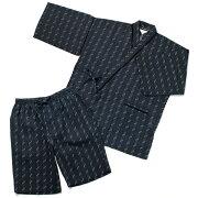 【3L・4L】大きいサイズのしじら抗菌消臭甚平衿・袖付け・ポケットレース使い