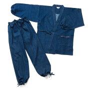 袖ゴム作務衣地厚ストレッチデニム、使い込むほどに味わいが深くなる10オンスの作務衣(さむい・さむえ)Ver.3
