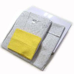 ■綿しじら絣調,無地甚平父の日ラッピング・ギフトボックス入同色同素材巾着袋入り&タオル付き★M〜LLサイズ 白<4003>メンズ