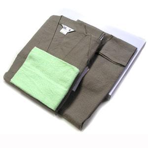 ■綿しじら,無地甚平父の日ラッピング・ギフトボックス入同色同素材巾着袋入り&タオル付き★M〜LLサイズ 胡桃<4004>メンズ
