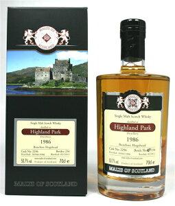 【現地では即完売】ハイランドパーク 1986 24年 モルツ・オブ・スコットランド 50.7% 700ml