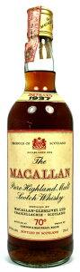 ちっさくG&Mと入ってます。【1930年代のマッカラン】ザ・マッカランラベル 1937 G&M 40%...