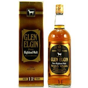 限定入荷!【オールドボトル】グレンエルギン 12年 ホワイトホースラベル 43% 1L