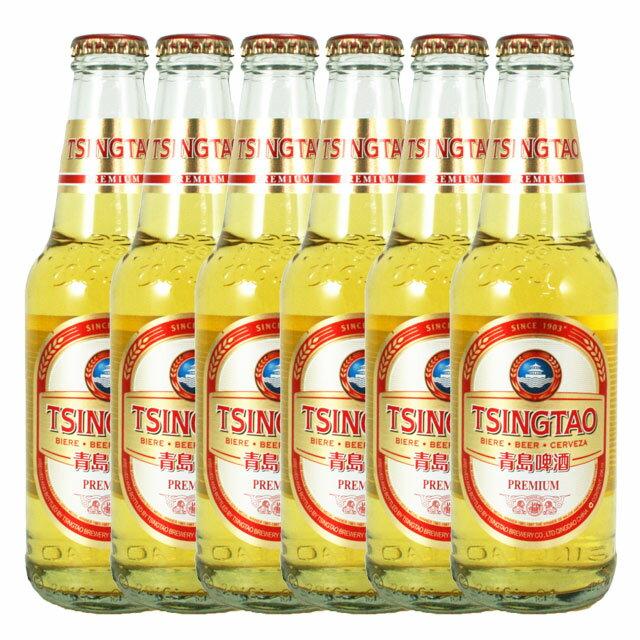 青島ビール プレミアム 296ml瓶×6 Tsingtao