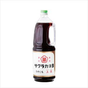 サクラカネヨ 薄口醤油サクラカネヨ 薄口醤油 上淡 ペット 1.8L