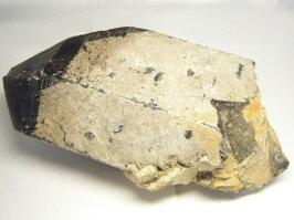中国産天然黒水晶モーリオン原石(クラスター)約3.36kg鑑別書付